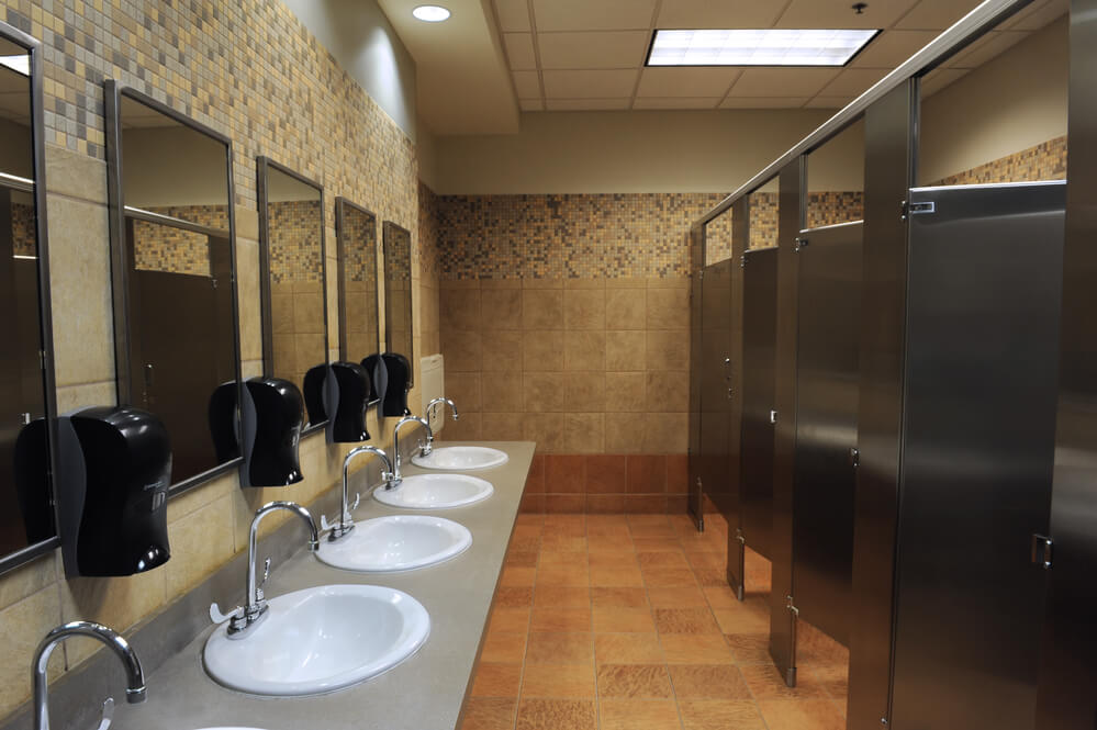 A Clean Commercial Restroom in Sioux Falls South Dakota