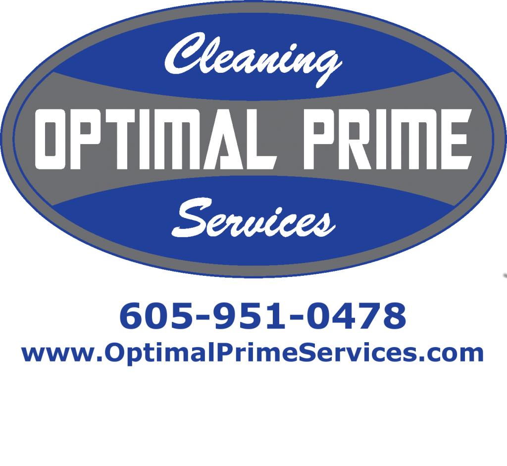 Optimal Prime logo with phone number and website address