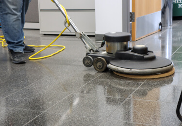 close up of cleaning a hard floor
